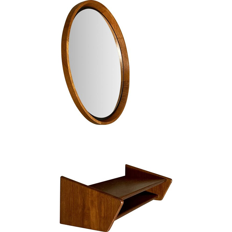 Vintage mirror and console scandinavian 1950s
