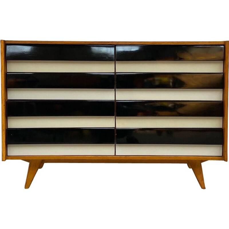 Vintage chest of drawers U-453 by J. Jiroutek 1960s