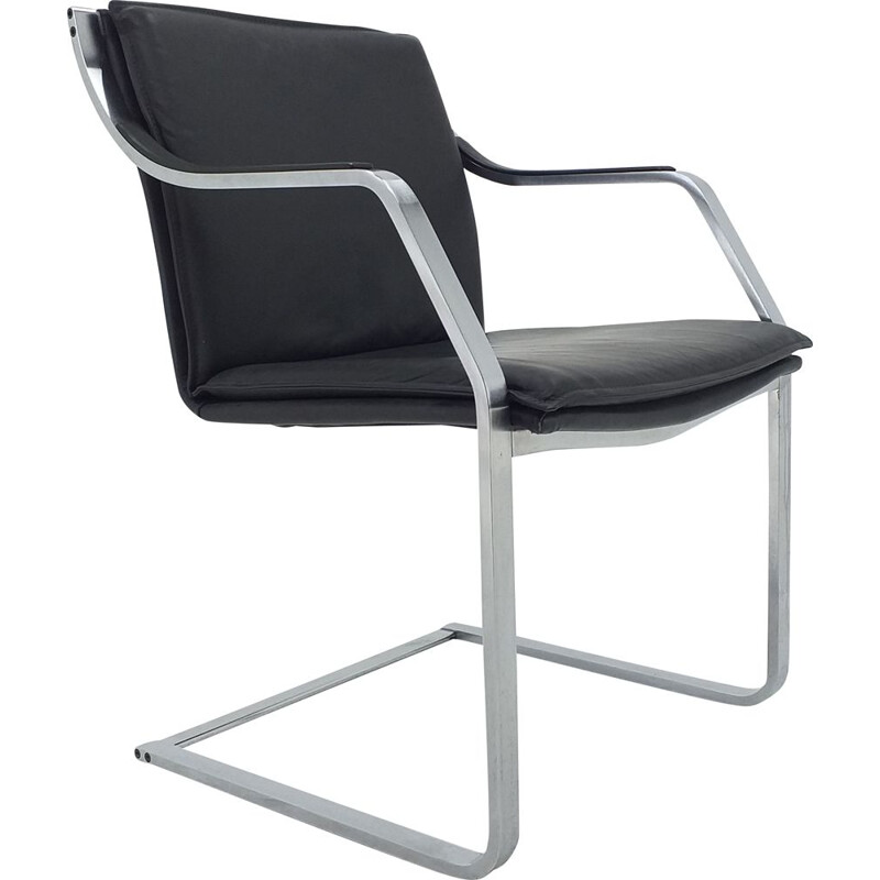 Vintage leather armchair from the Walter Knoll collection by Rudolf B. Glatzel 1980s