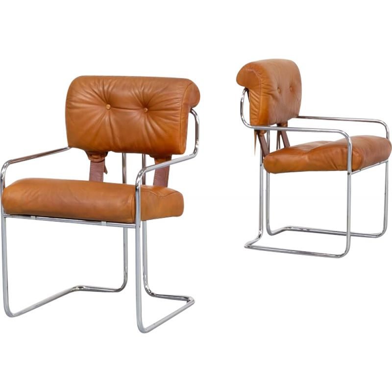 2 vintage Tucroma armchairs by Guido Faleschini Tucroma for i4 Mariani Italy 1970s