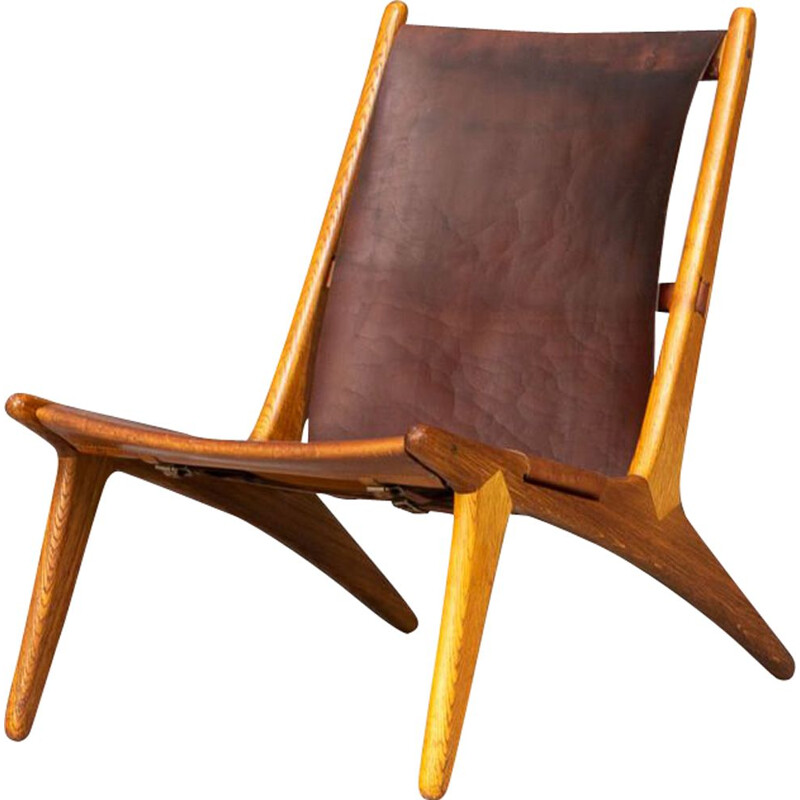 Mid century hunting chair by Uno & Östen Kristiansson for Luxus, 1950s