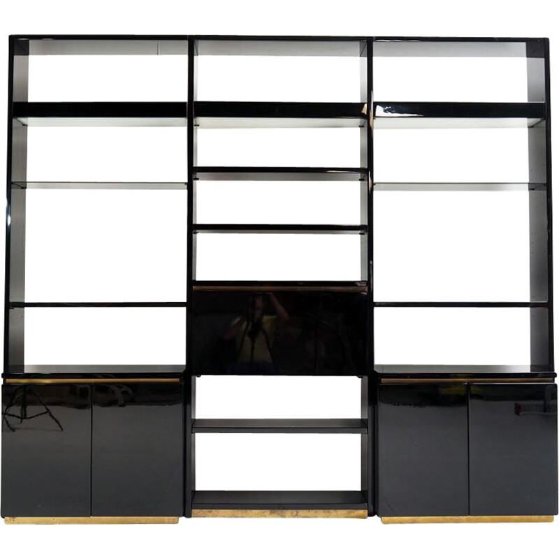 Vintage wall unit by Jean Claude Mahey, 1970s