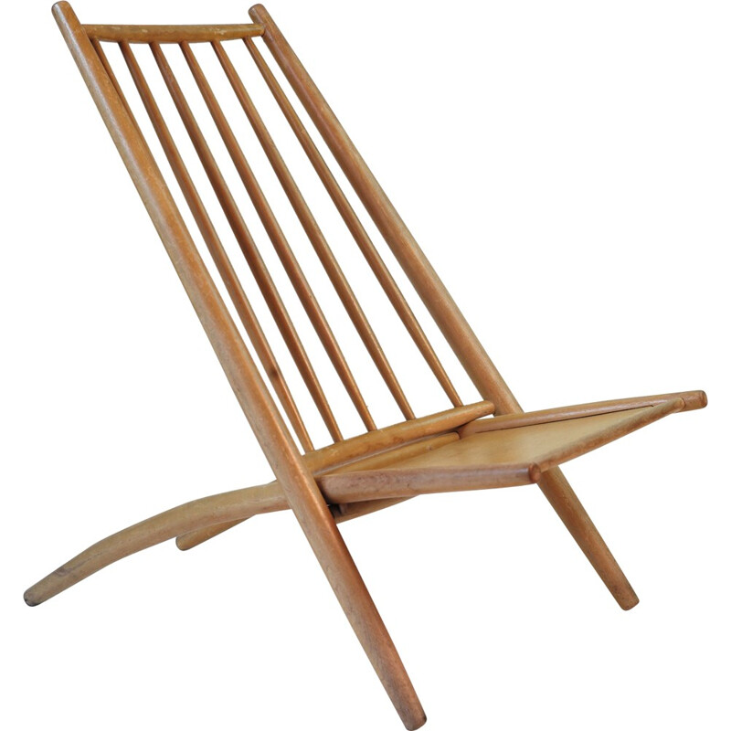 "Haga Fors ""Congo""  easy chair in beechwood, Alf SVENSSON - 1950s"