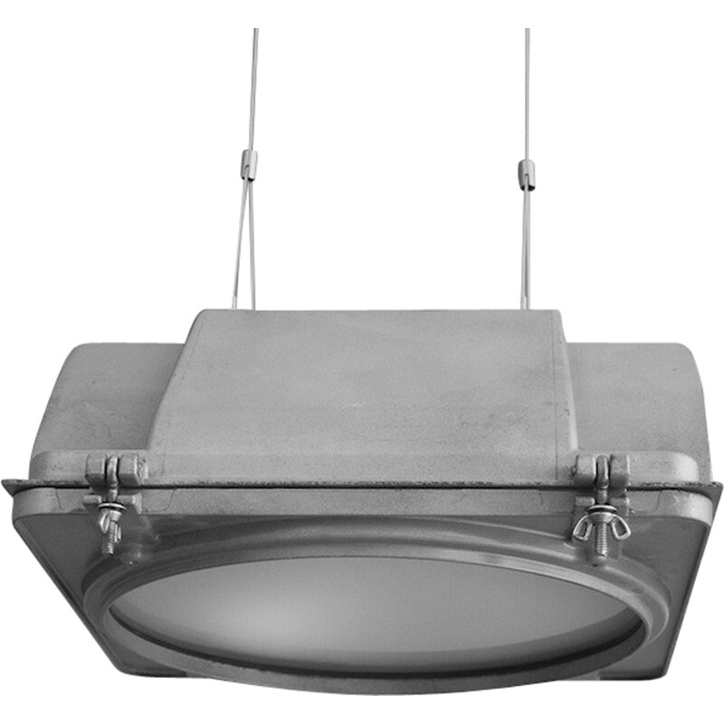 American pendant light in aluminum - 1960s
