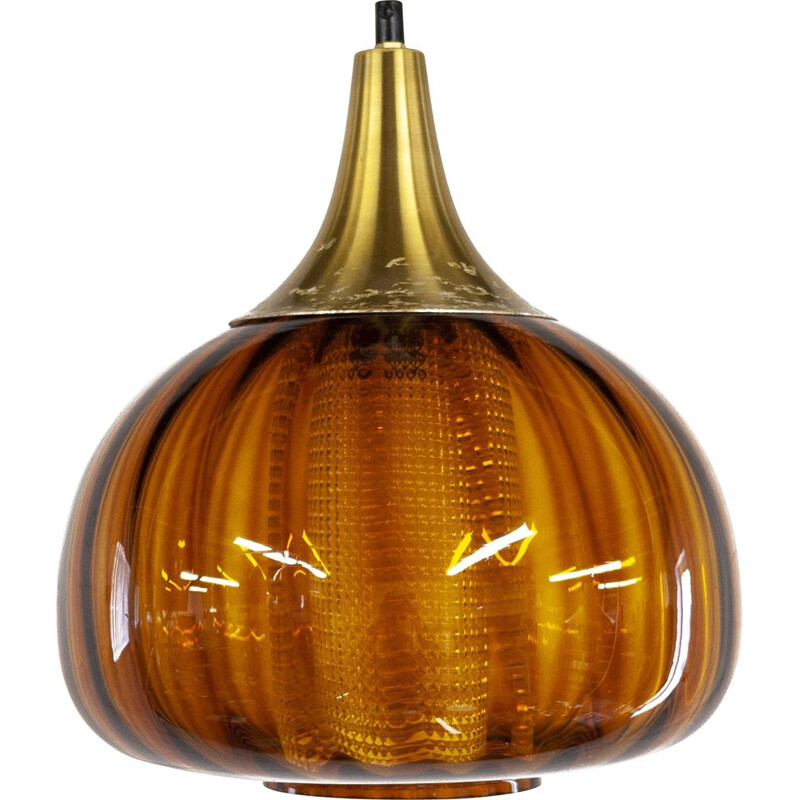 Mid centyury swedish pendant lamp by Carl Fagerlund for Orrefors, 1960s