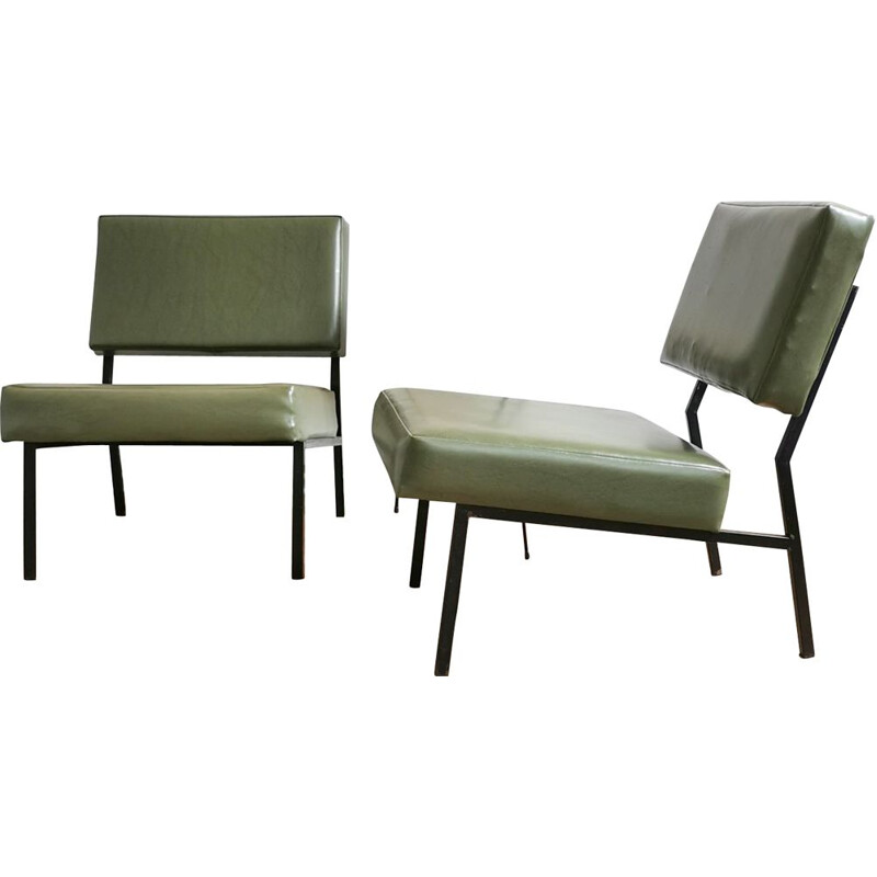 Pair of vintage modernist armchairs, 1960s