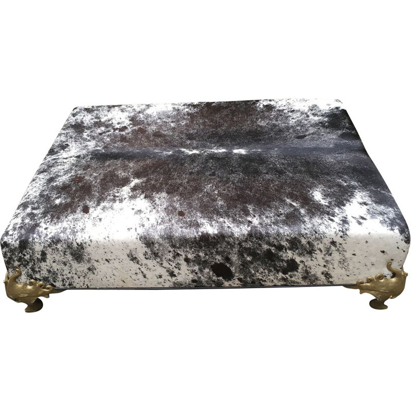 Large vintage covered bench of shaved foal by Garouste and Bonetti circa 2000
