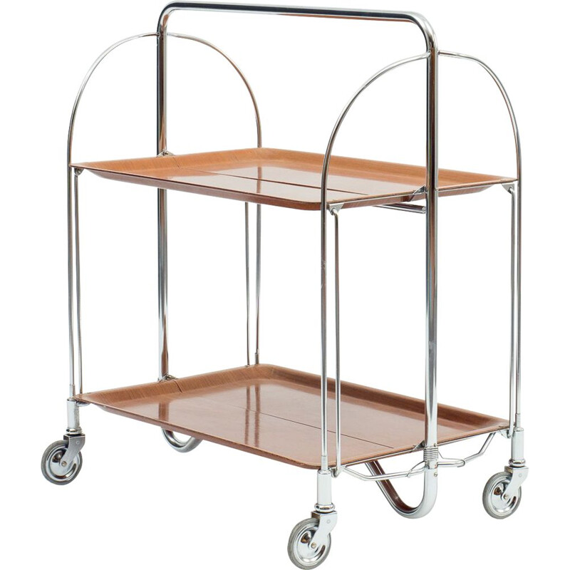 Vintage classic serving trolley foldable Dinett, 1960s