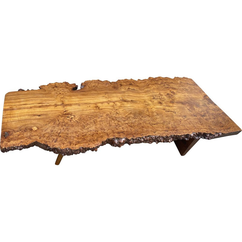 Large solid elm coffee table