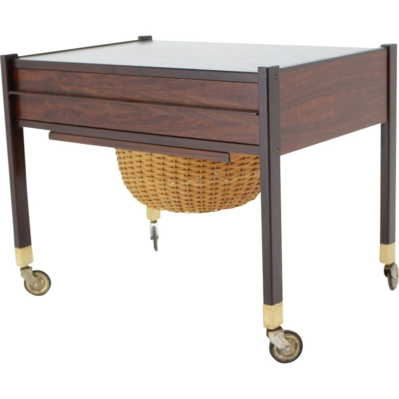 Vintage rosewood sewing table, Denmark 1960s