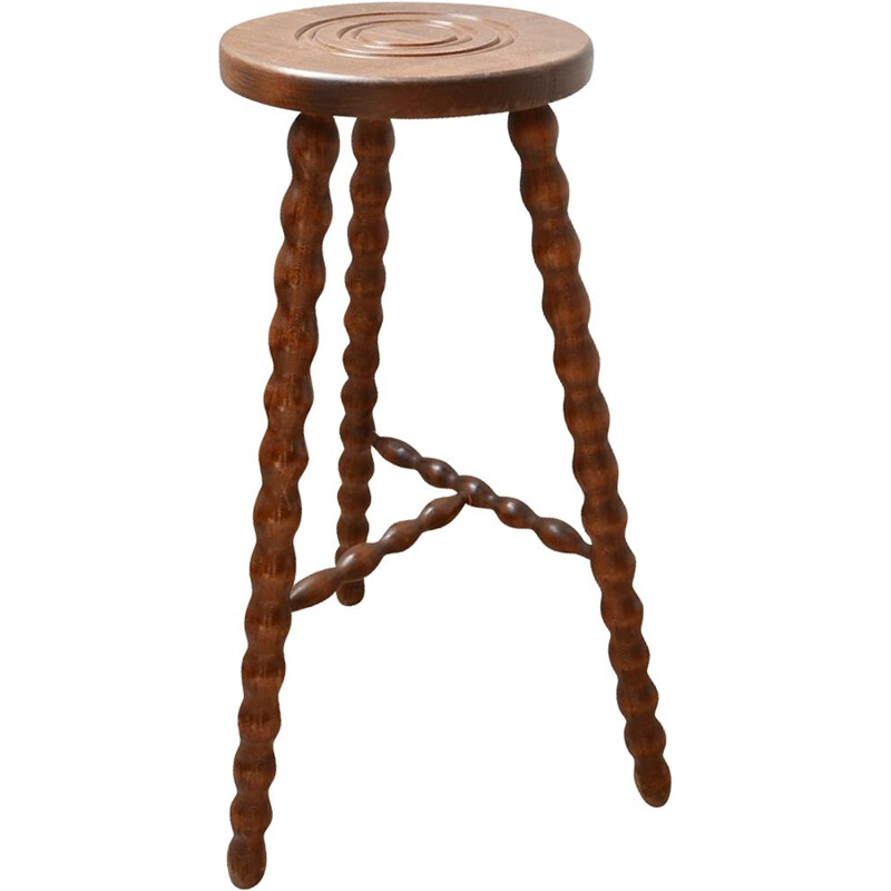 French mid century side table by Bobbin Selette sculpture, 1960s