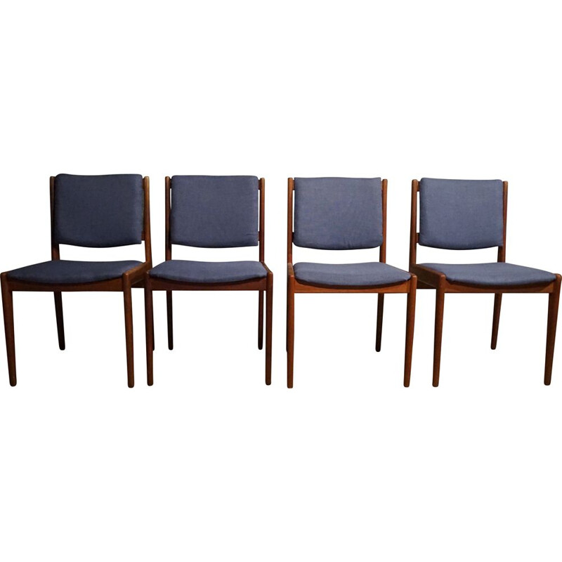 Set of 4 vintage teak dining chairs for Illums Bolighus, 1960s