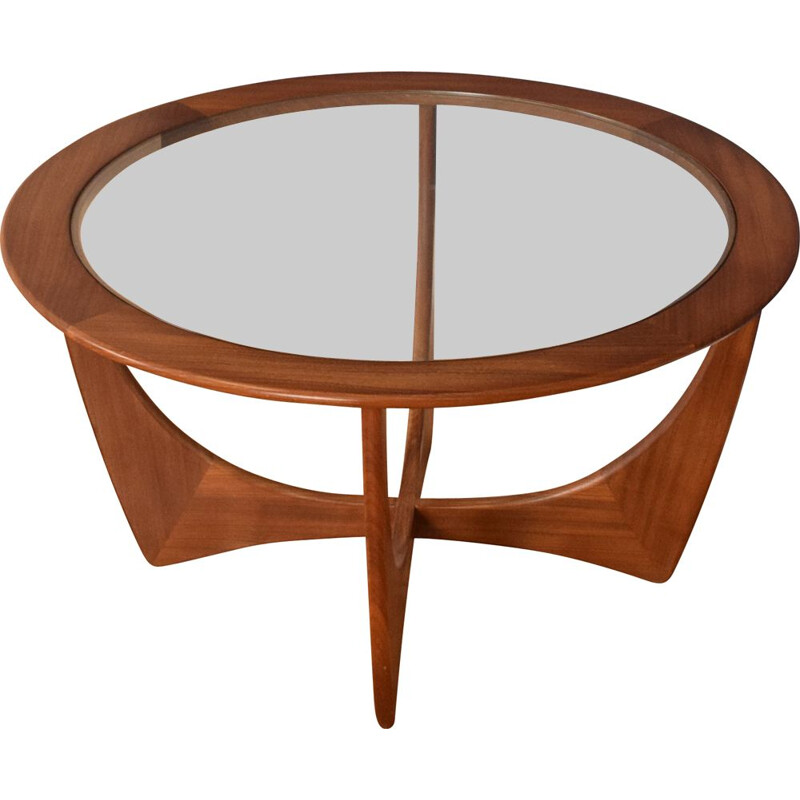 Vintage fresco teak and glass astro coffee table by Victor Wilkins for G Plan, 1960s