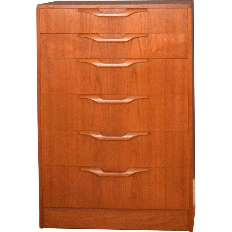 Vintage teak chest of drawers by Stonehill, 1960s