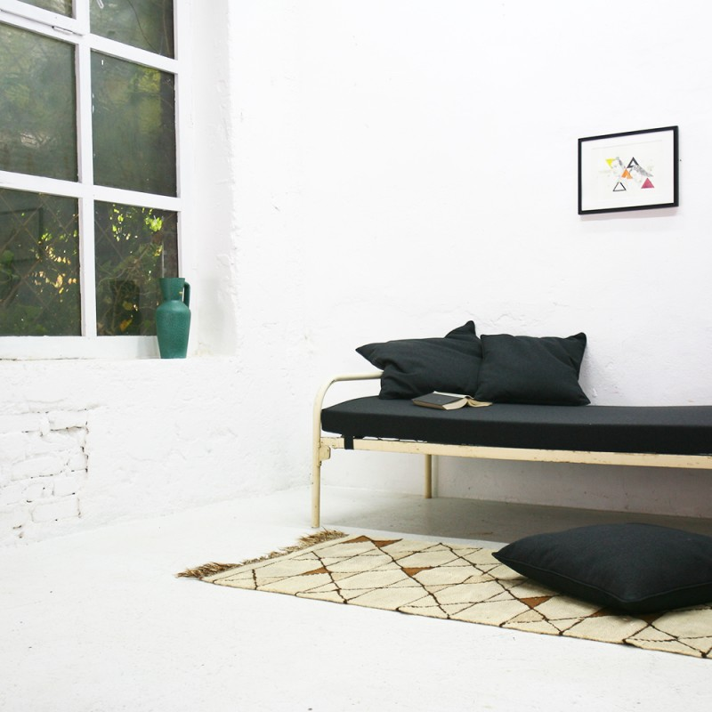 Industrial Daybed In Steel And Fabric