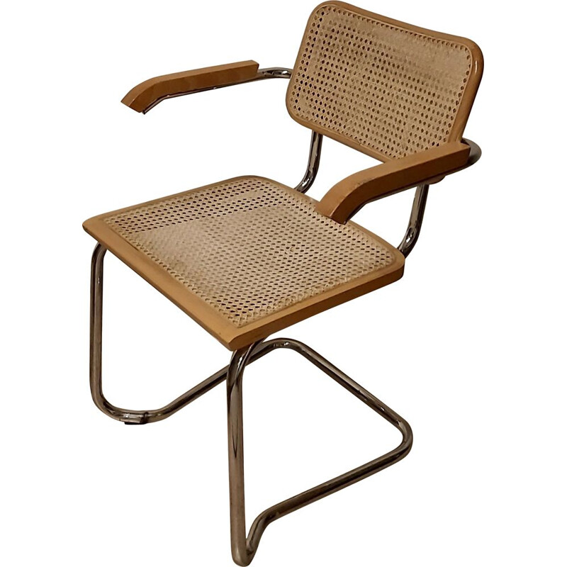 Vintage chromed metal chair, Italy 1980s