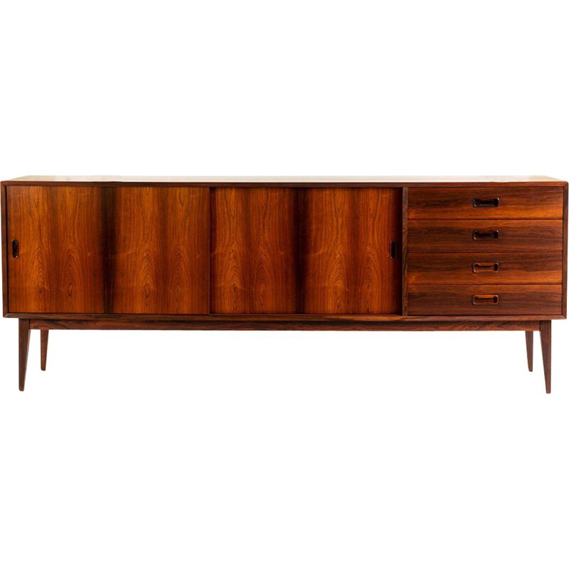 Vintage danish XL rosewood sideboard with sliding doors and drawers, 1960s
