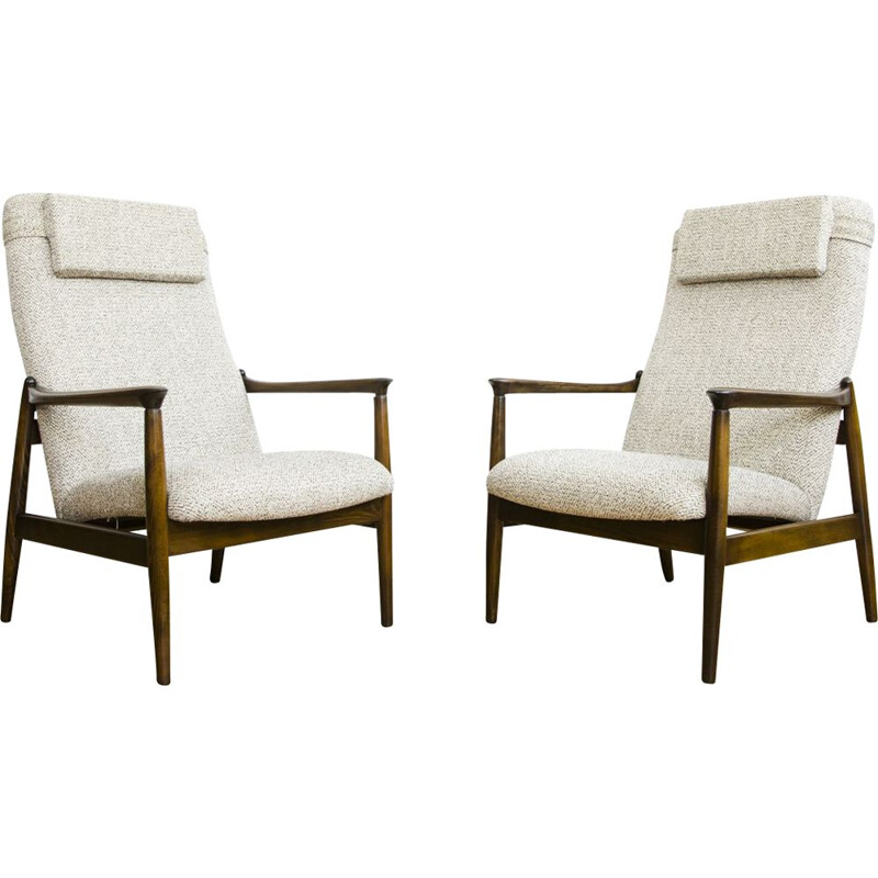 Pair of vintage GFM-64 armchairs by Edmund Homa for GFM, 1960s