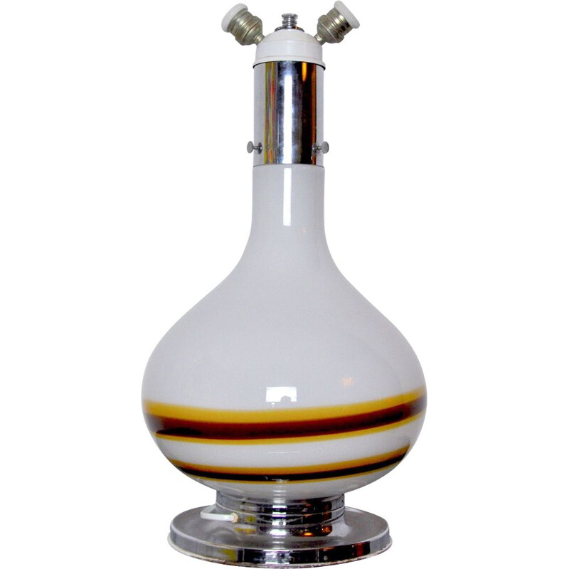 Vintage two-tone lamp by Murano Mazzega, Italy 1970s