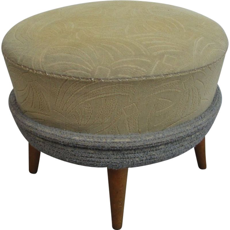 Vintage foot stool or pouffe, 1950s
