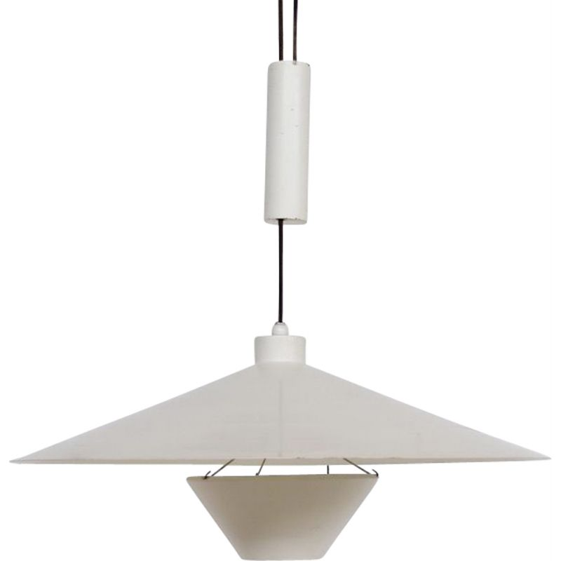 Large midventury counterbalanced ceiling light by Florence Knoll for Knoll International 1968s