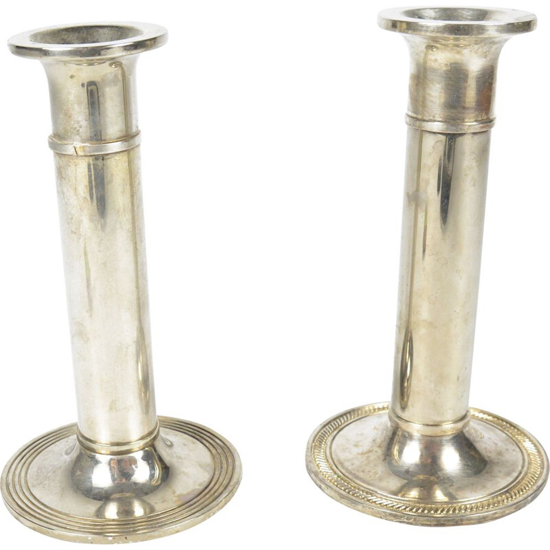 Mid century Classicist pair of candlesticks, France 1970s
