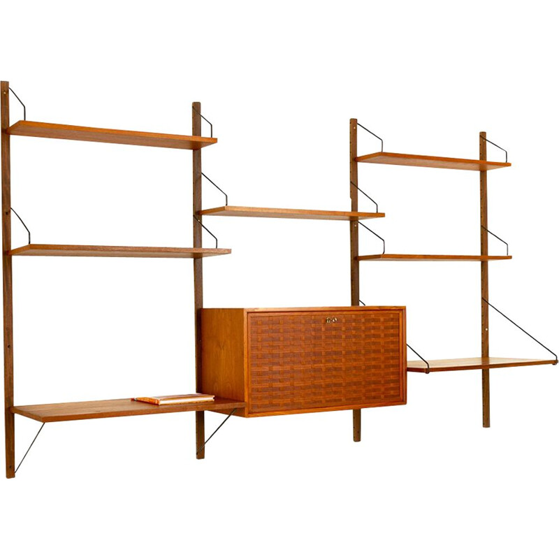 Vintage danish wall unit by Poul Cadovius for Cado, 1960s