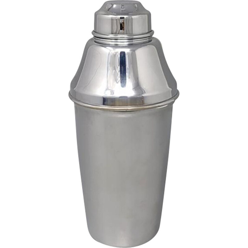Vintage ALFRA cocktail shaker by Carlo Alessi in Stainless Steel,  Italy 1950s