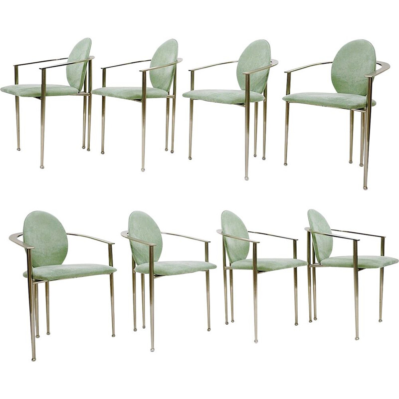 8 vintage dining chairs by Philippe Starck for Belgo Chrom
