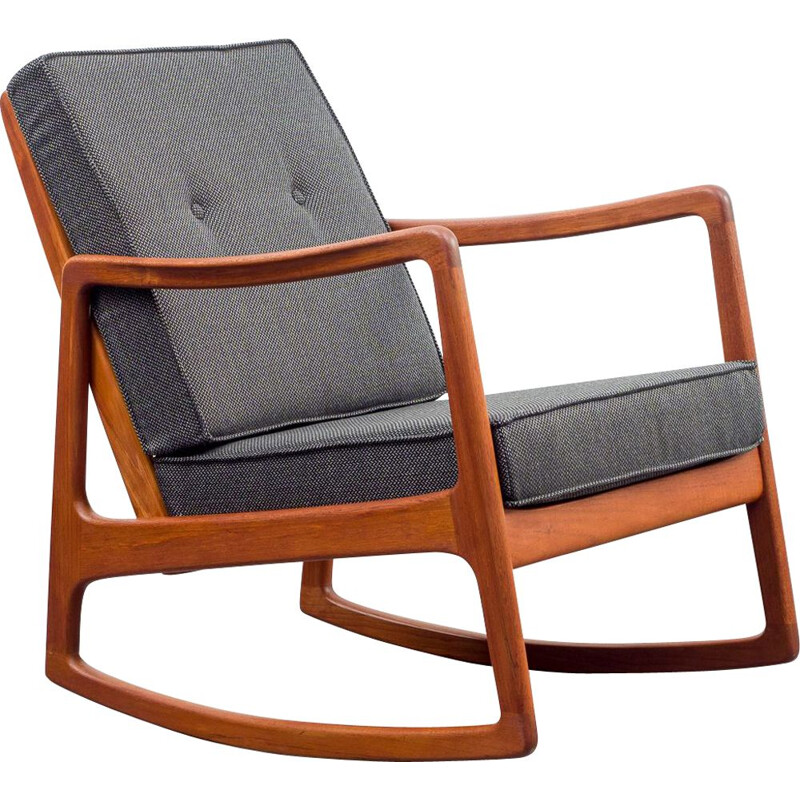 Mid century rocking chair by Ole Wanscher for France & Son, 1960s