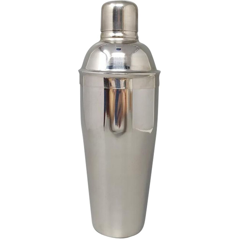 Vintage cocktail shaker in stainless steel, Italy 1960s
