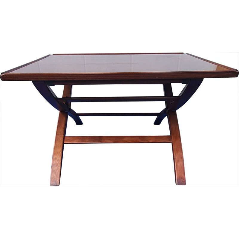 Vintage folding coffee table with system