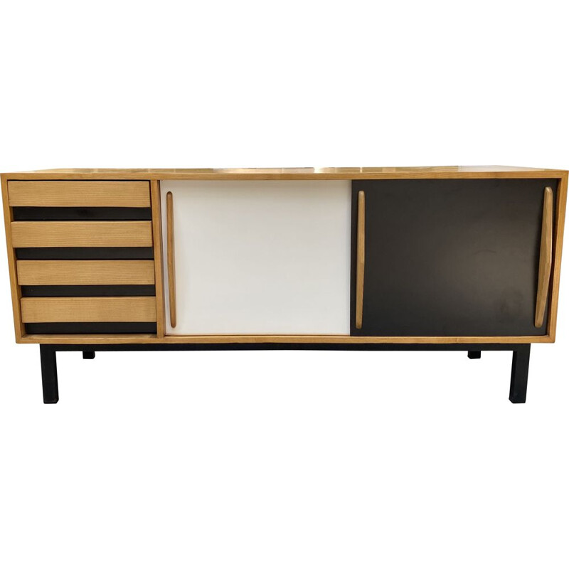 Vintage Cansado sideboard by Charlotte Perriand, Mauritania 1959s