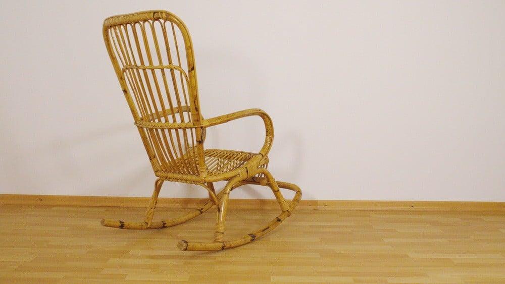 Vintage bamboo rocking chair - 1950s - Design Market