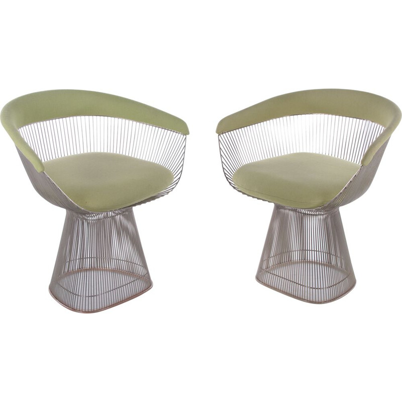 Pair of vintage armchairs by Warren Platner for knoll, 1966