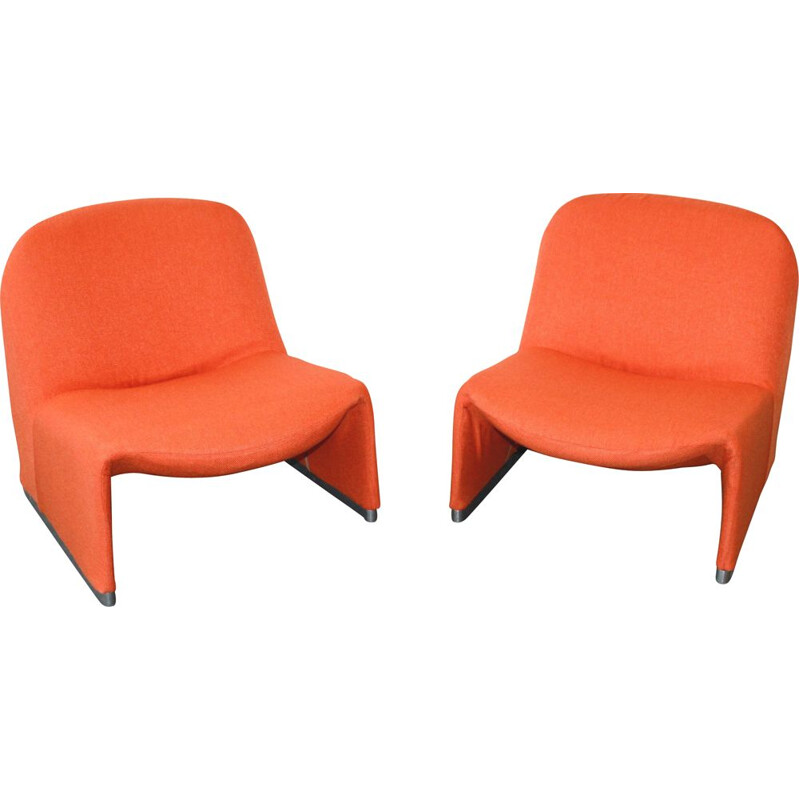 Pair of vintage Alky armchairs by Giancarlo Piretti for Castelli, 1969s