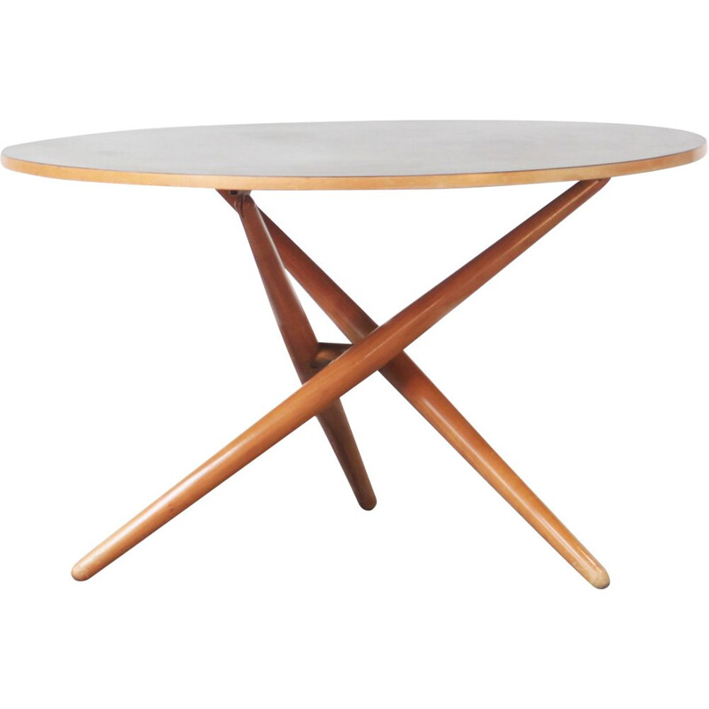 Vintage round dining table Mod. Ess-Tee table by Jurg Bally for Wohnhilfe, Switzerland 1951s