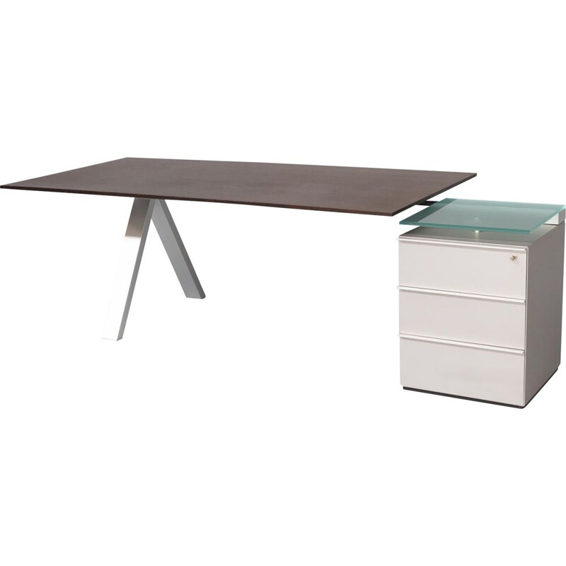 Vintage writing desk by Wolfgang C.R. Mezger for Walter Knoll