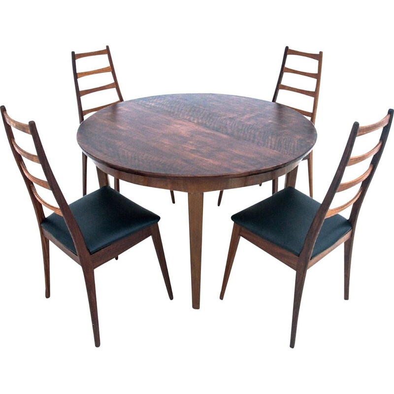 Set of table with chairs dining vintage, Denmark 1960s