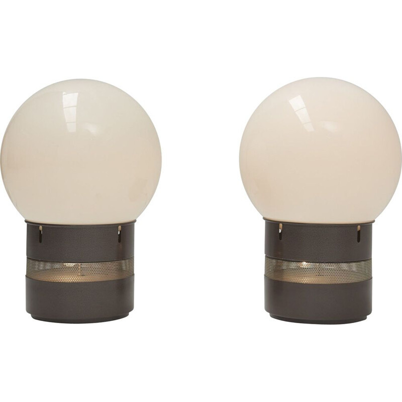 Pair of Mezzoracolo table lamps vintage by Gae Aulenti for Artemide, Italy 1960s