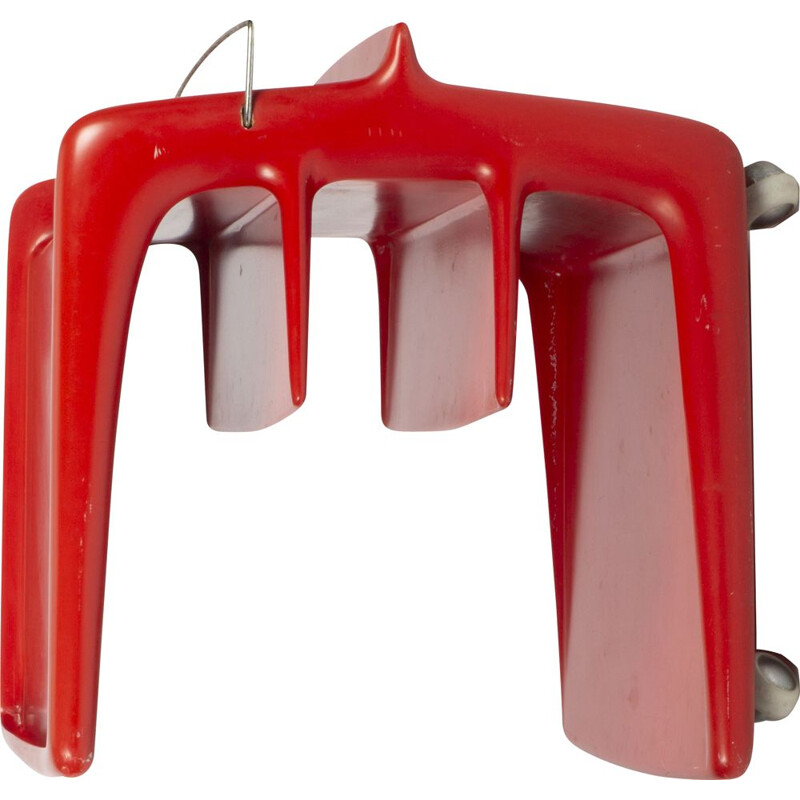 Red space age bar table