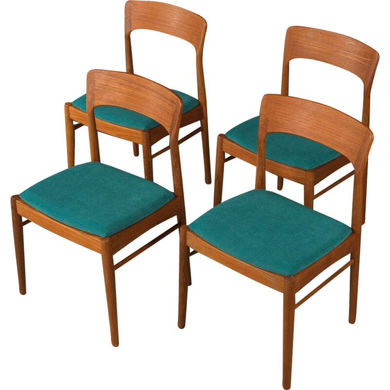 Set of 4 dining chairs vintage by K.S.Møbler, Denmark 1960s