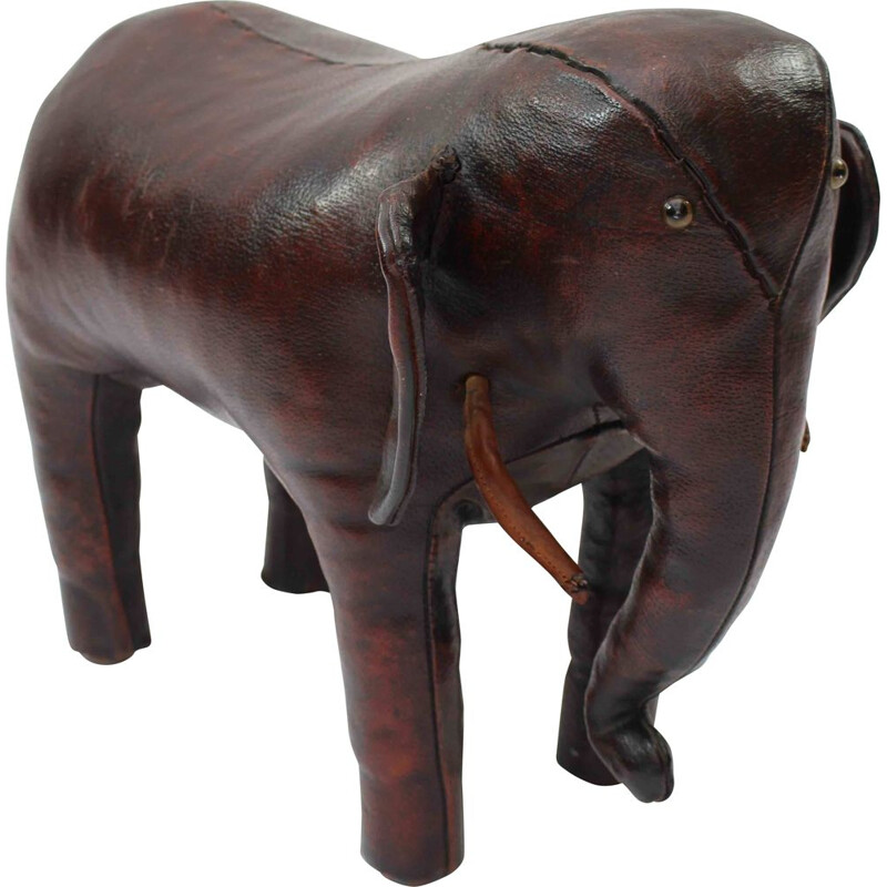 Mid century leather elephant by Dimitri Omersa