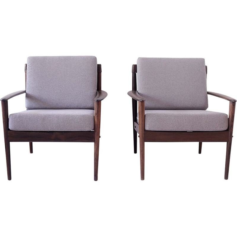 Pair of vintage armchairs by Grete Jalk for Poul Jeppesens, 1960s
