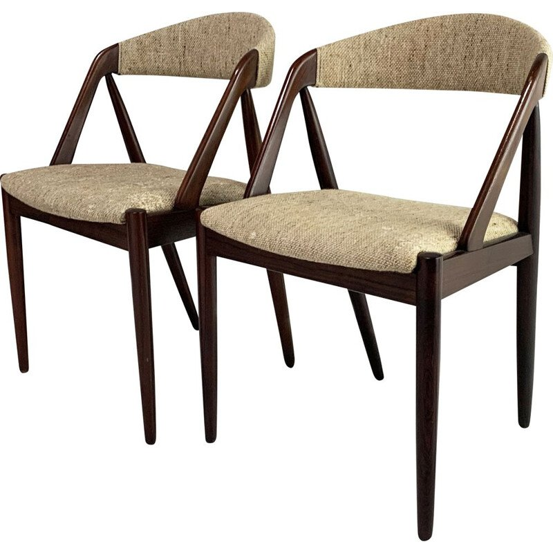 Pair of mid century  no 31 dining chair by Kai Kristiansen for Schou Andersen, 1960s