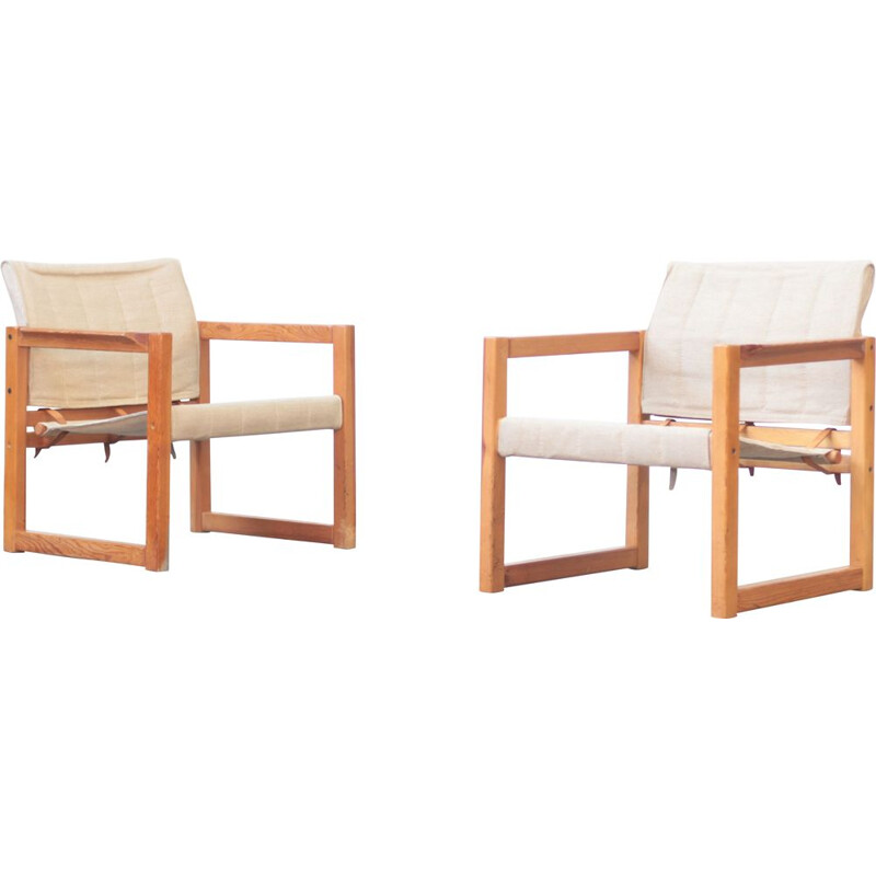 Pair of vintage lounge chairs by Karin Mobrin, 1960s