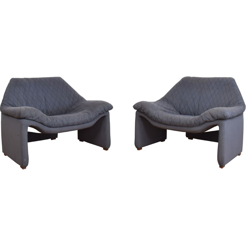 Pair of mid century lounge chairs by Pierre Paulin for Artifort, Netherlands 1970s