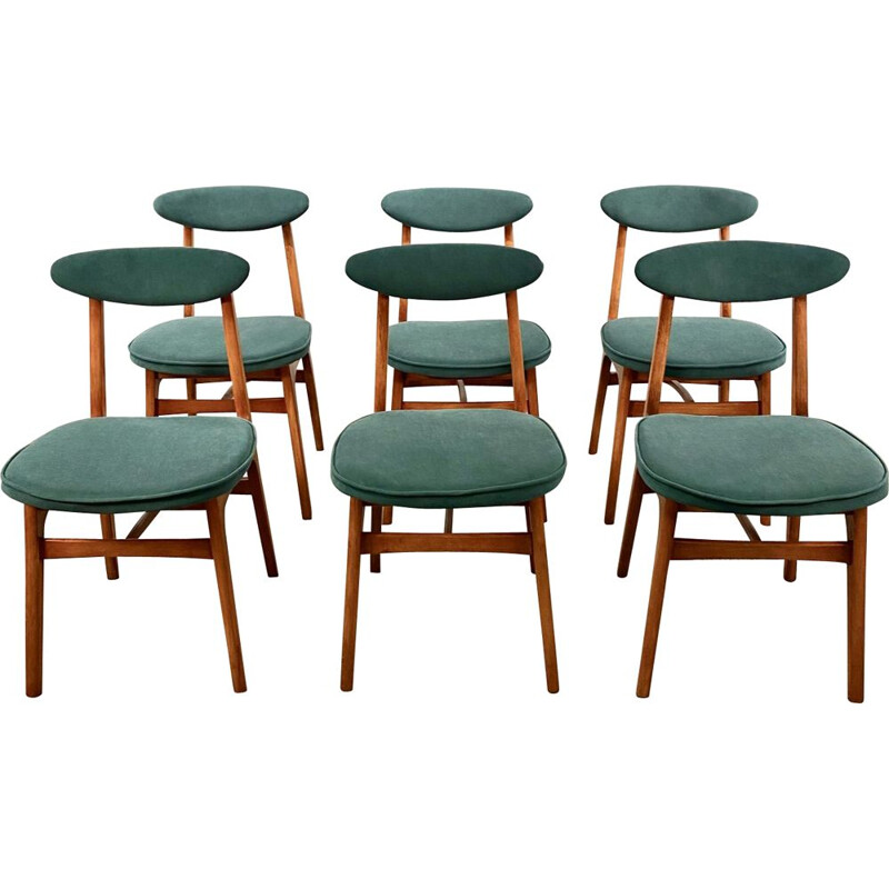 Set of 6 chairs vintage by T. Halas, 1960s