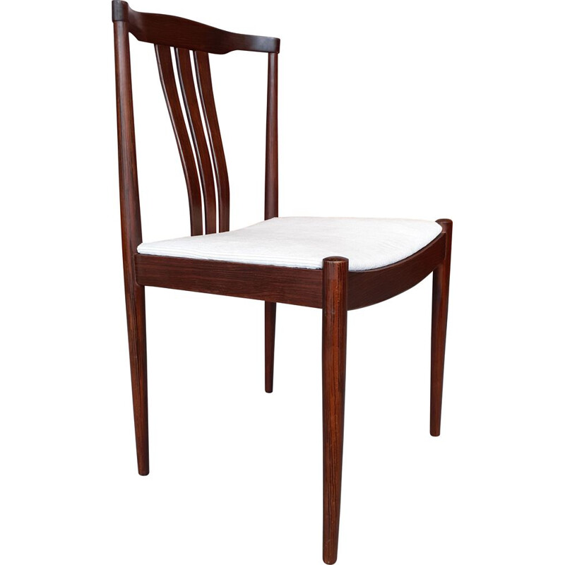 Vintage rosewood and velvet chair