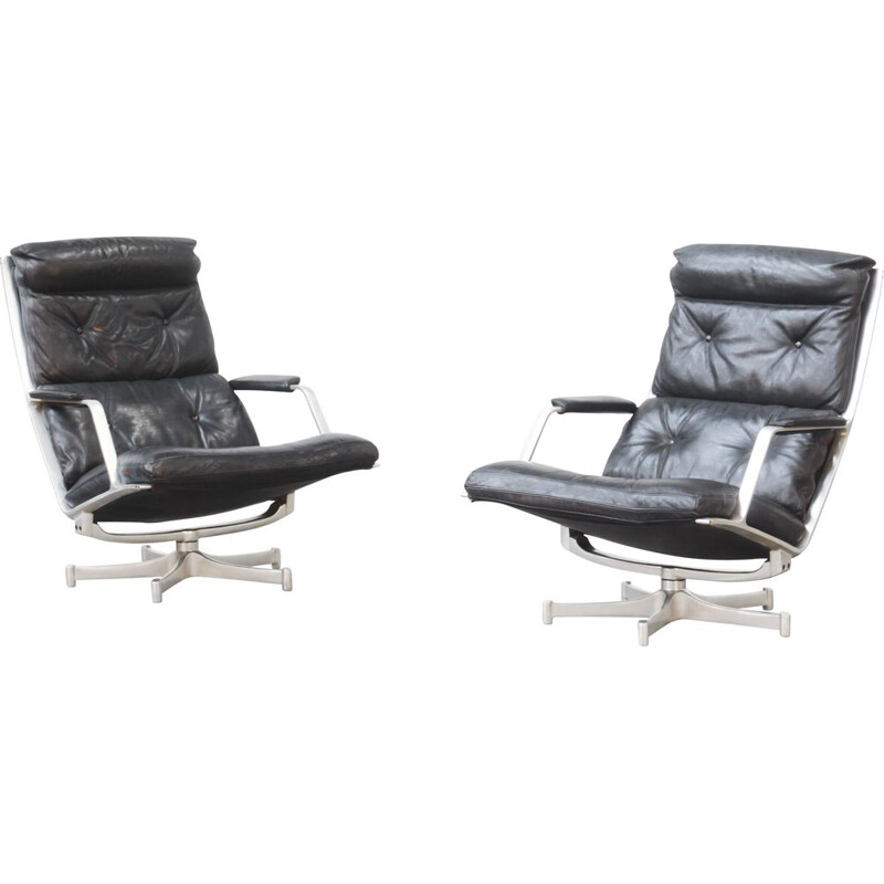 2 lounge chairs with by Fabricius & Kastholm for Kill International, Germany1968